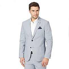 Jeff Banks - Designer grey cotton checked suit jacket