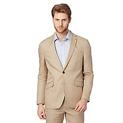 Jeff Banks - Big and tall designer natural linen blazer