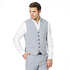 Jeff Banks - Designer blue cotton check waistcoat