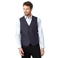 Jeff Banks - Designer navy pure linen waistcoat