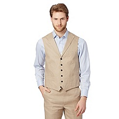 Jeff Banks - Big and tall designer natural linen waistcoat