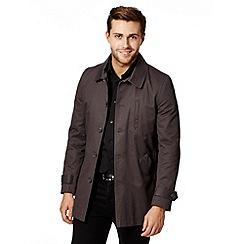 Jeff Banks - Designer grey twill mac coat