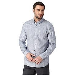 Jeff Banks - Big and tall designer natural floral shirt