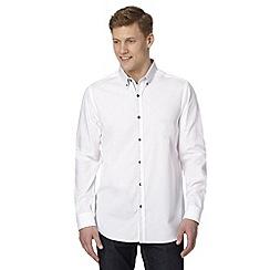 Jeff Banks - Designer white tile print collar shirt