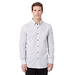 Jeff Banks - Designer white droplet printed shirt