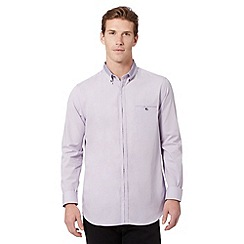 Jeff Banks - Big and tall designer lilac cross link collar shirt