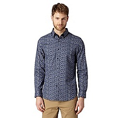 Jeff Banks - Designer navy floral print shirt