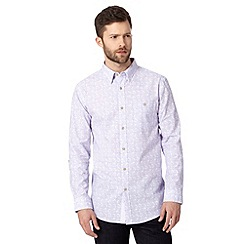 Jeff Banks - Big and tall designer lilac paisley shirt