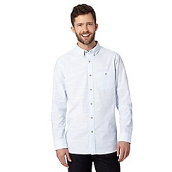 Jeff Banks - Big and tall designer light blue ditsy shirt