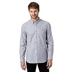 Jeff Banks - Big and tall designer grey diamond shirt