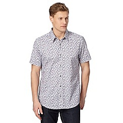 Jeff Banks - Big and tall designer white floral shirt