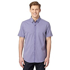 Jeff Banks - Designer purple gingham shirt