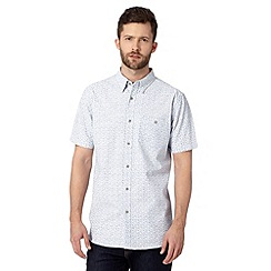 Jeff Banks - Big and tall designer blue printed chambray shirt