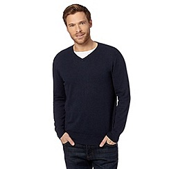 Jeff Banks - Designer navy V neck jumper