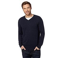 Jeff Banks - Designer navy V neck jumper