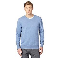 Jeff Banks - Designer pale blue cotton crew neck jumper