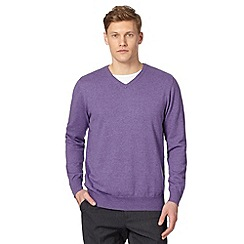 Jeff Banks - Big and tall designer lilac cotton crew neck jumper