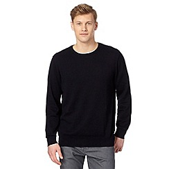 Jeff Banks - Designer navy cotton crew neck jumper