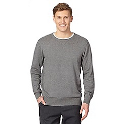 Jeff Banks - Designer grey cotton crew neck jumper