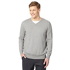 Jeff Banks - Big and tall designer grey cotton crew neck jumper