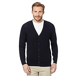 Jeff Banks - Designer navy textured cardigan