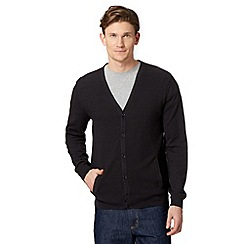 Jeff Banks - Designer dark grey textured cardigan