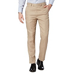 Jeff Banks - Designer natural linen trousers