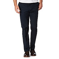 Jeff Banks - Designer navy zip fly chinos