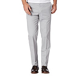 Jeff Banks - Big and tall designer light grey zip fly chinos
