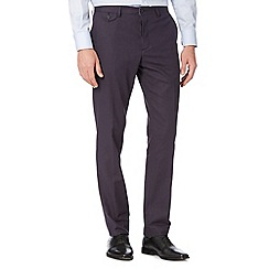 Jeff Banks - Big and tall designer navy linen drawstring trousers
