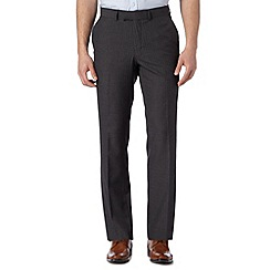 Jeff Banks - Big and tall designer grey pinstripe trousers