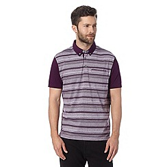 Jeff Banks - Designer purple striped polo shirt