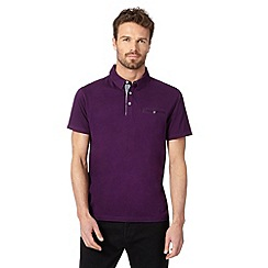 Jeff Banks - Big and tall designer purple chambray polo