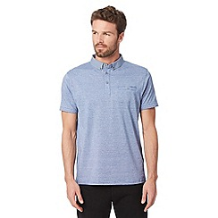Jeff Banks - Designer light blue striped polo shirt