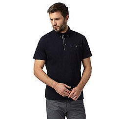 Jeff Banks - Designer navy pocket polo shirt