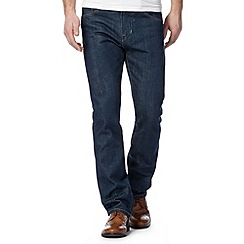 Jeff Banks - Designer dark blue rinse straight leg jeans
