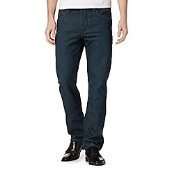 Jeff Banks - Designer dark blue wash straight leg jeans