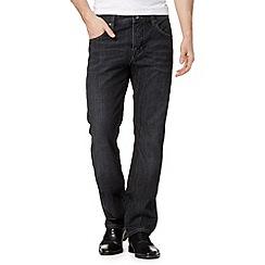 Jeff Banks - Designer dark blue wash straight leg jeans