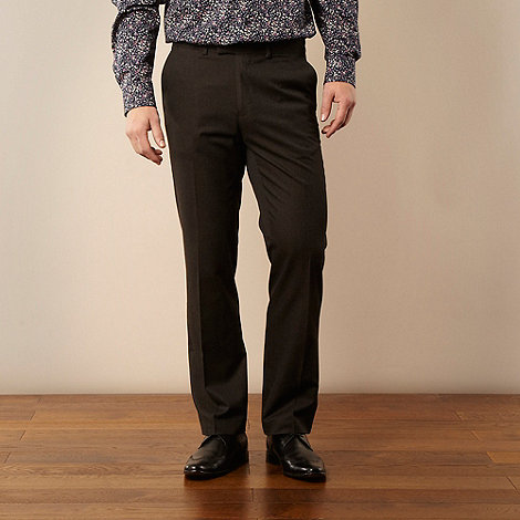 Jeff Banks - Big and tall brown smart pindot trousers