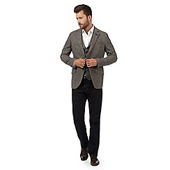 Jeff Banks - Big and tall grey zig zag wool blend jacket