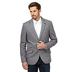 Jeff Banks - Big and tall grey herringbone blazer