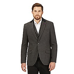 Jeff Banks - Big and tall grey wool blend blazer