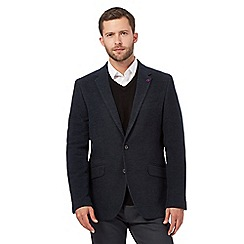 Jeff Banks - Big and tall navy herringbone blazer