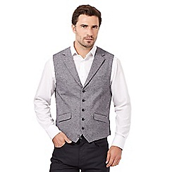 Jeff Banks - Grey brushed herringbone waist coat