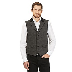Jeff Banks - Big and tall grey wool blend waistcoat