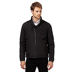 Jeff Banks - Big and tall designer black harrington jacket