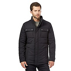 Jeff Banks - Big and tall navy baron quilted jacket