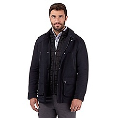 Jeff Banks - Big and tall designer navy padded jacket