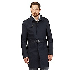 Jeff Banks - Big and tall navy buttoned mac jacket