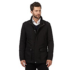 Jeff Banks - Big and tall black four pocket jacket